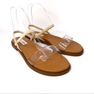 STEVE MADDEN Women's ARIAA Clear Sandals NIB Sz 7